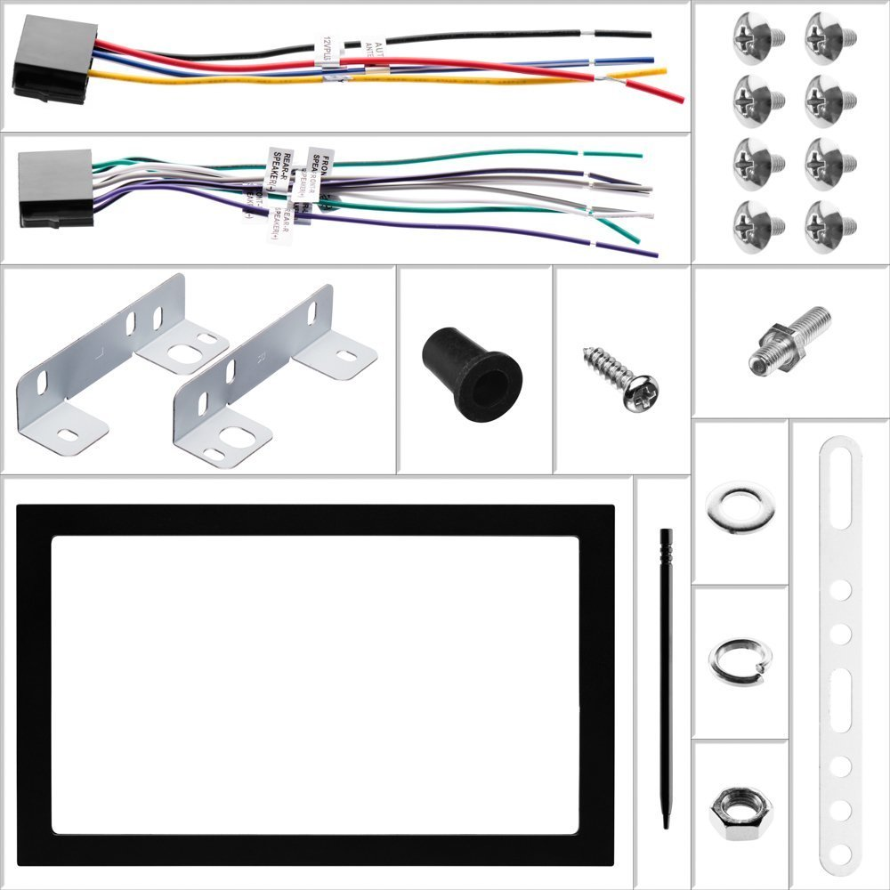 Chrysler 300 2005 2006 2007 Dvd Receiver Radio Stereo Bt Home Hub 3 Wiring Diagram Car Install Double Din Black Bezelharness And Antenna Adapter Electronics