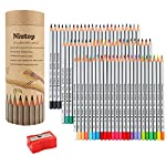 Niutop 72-color Premier Soft Core Art Colored Drawing Pencils of Marco for Artist Sketch/ Adult Secret Garden Coloring Book/ Kids Artist Writing/ Manga Artwork (72-color)