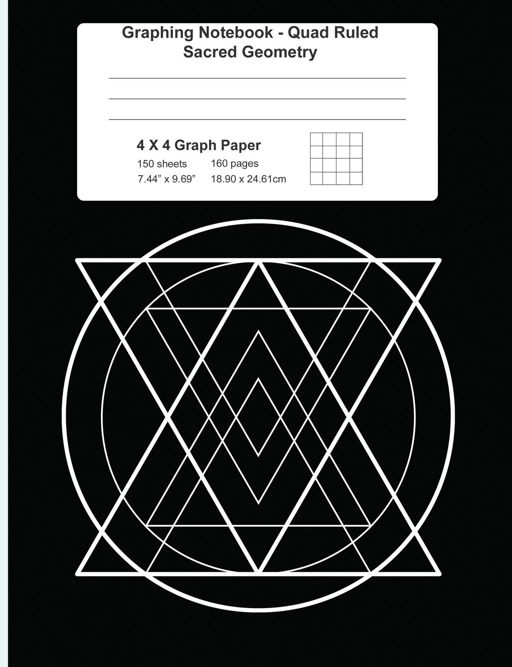 Graphing Notebook Quad Ruled Sacred Geometry 4 X 4 Graph Paper ...