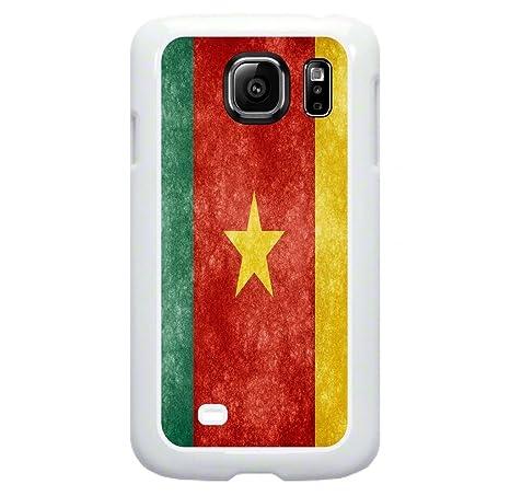Amazon Cameroon Flag Tm Samsung Galaxy S7 Edge White Plastic