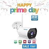 WIFI Camera Outdoor, SZSINOCAM Surveillance CCTV Camera, FHD 1080P Weatherproof Security Camera system wireless IR LED Night Vision Two-Way Audio, Onvif Motion Detection,Email Alert,Auto-Recording