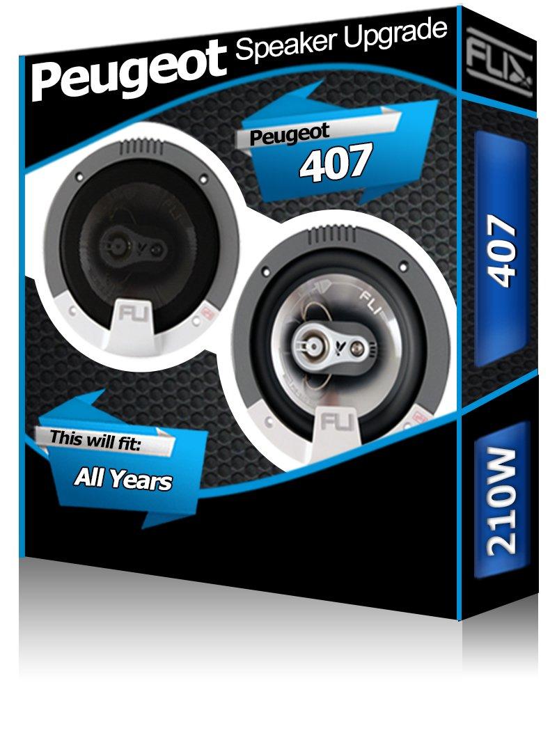 Peugeot 407 Puerta trasera Altavoces Fli Audio Altavoces de coche kit 210 W: Amazon.es: Coche y moto