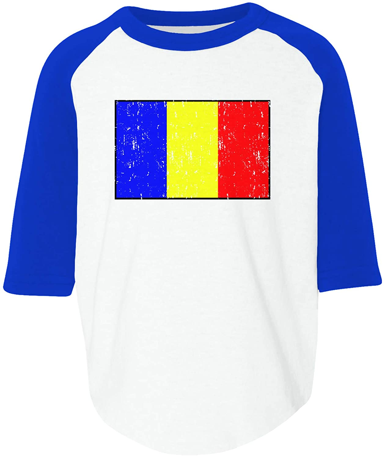 Amdesco Flag of Chad Chadian Toddler Raglan Shirt
