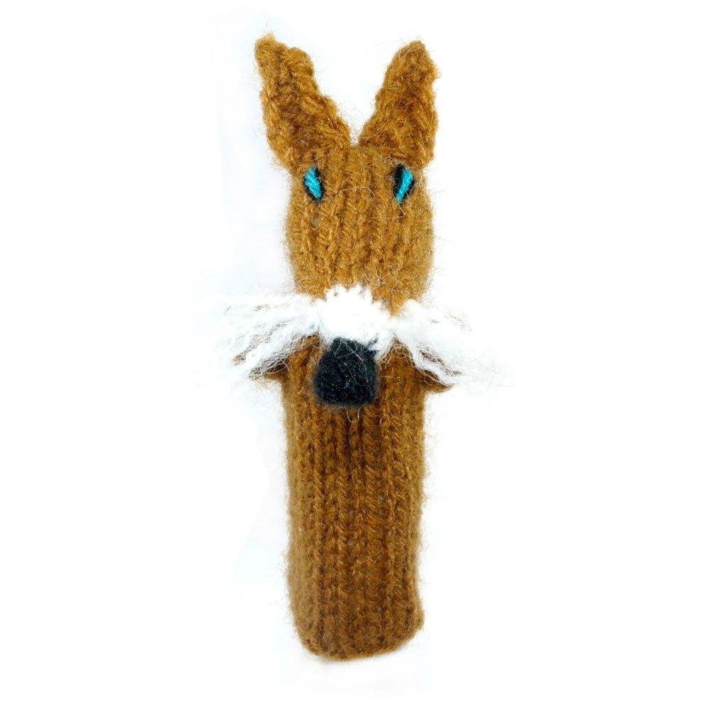 Fingerpuppe Fuchs Kasperltheater Spielzeug zum Spielen und Lernen handgestrickt aus weicher Wolle fü r Baby und Kinder Willy' s Manufaktur FP 0593