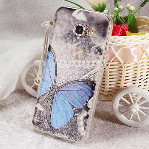 Caja del teléfono para Samsung Galaxy A3 (2017) Flores de durazno en relieve móvil de TPU b