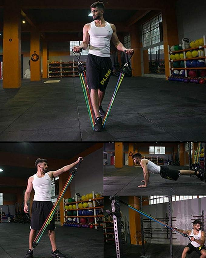 YNXing Kit de bandas de resistencia apilables para entrenamiento extremo, entrenamiento de cuerpo completo, gimnasio en casa, ideal para principiantes ...