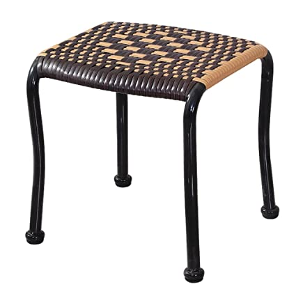 Amazon.com: BMM-Footstools Rattan Stool Cool Small Bench ...