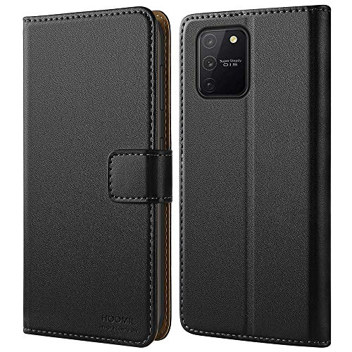 Galaxy S10 Lite Case, HOOMIL Premium Leather Flip Wallet Phone Case for Samsung Galaxy S10 Lite Cover - Black