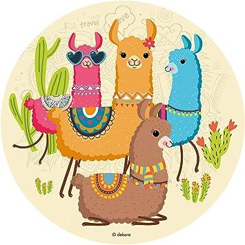 Generique - Oblea Llamas 30 cm