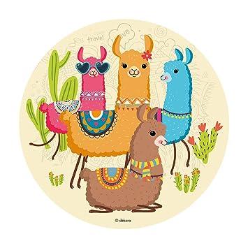 Dekora-145089 Decoracion Tartas de Cumpleaños Infantiles en Disco de Oblea de Llamas-20 cm Diametro (145089)