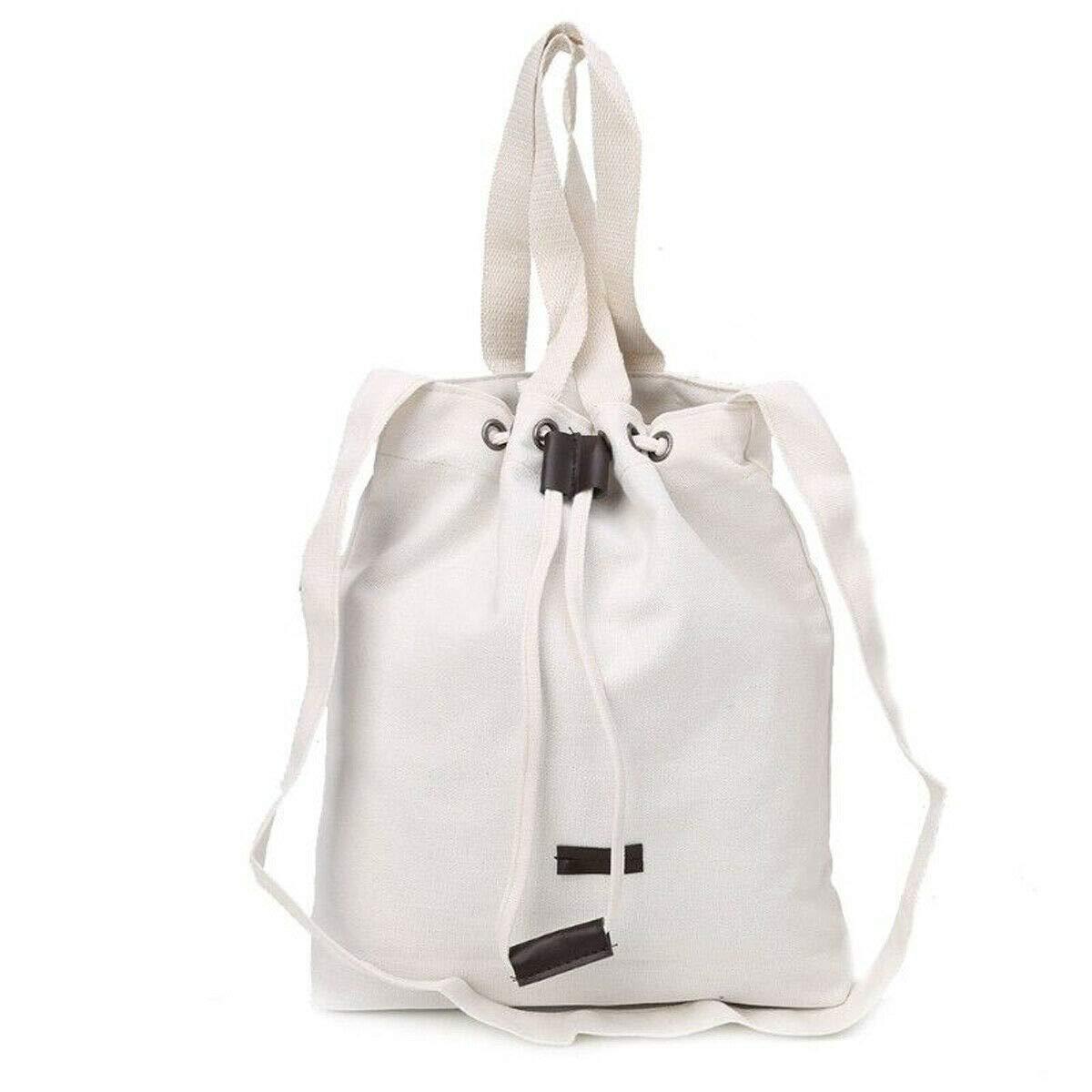 White Women Lady Shoulder Bags Canvas Messenger Hobo Satchel Tote Handbag #SENH