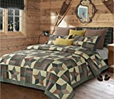 Duke Imports DQ601T Woodland Star Green Quilt, Twin