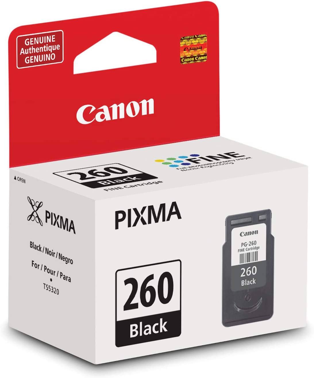 Canon 3706C001 Pg-260XL Black Ink Cartridge Ink