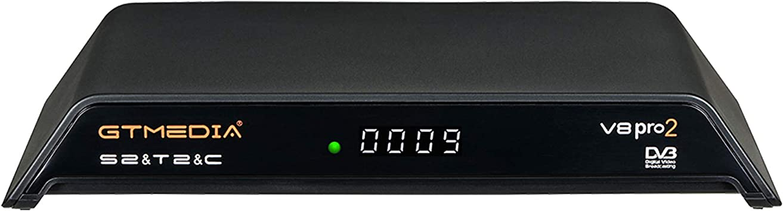 GT MEDIA V8 PRO2 Decodificador TDT Terrestre HD Receptor TV Satelite Digital DVB-S/S2/S2X DVB-T/T2/Cable/ISDBT, 1080P Full HD H.265 HEVC WiFi, Soporte CCcam Newcam PVR Youtube: Amazon.es: Electrónica