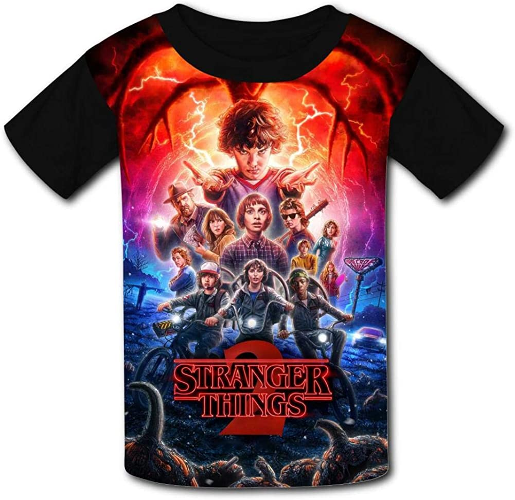 GIGIBO Stranger Things Poster Youth Kids T-Shirts Fashion Graphic Print Tee