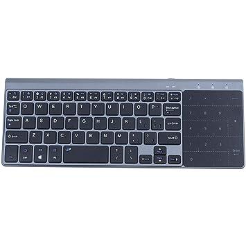 Nrpfell Claves de mudos portatil teclados 2.4G Ultra Delgado Mini ...