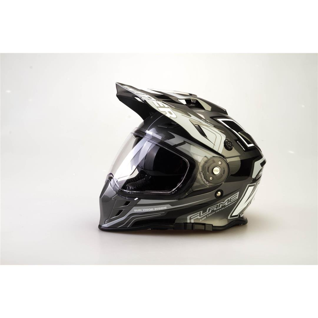 Amazon.es: VIPER RX-V288 ADULTOS MOTOCROSS ENDURO ATV QUAD CARRERAS DOBLE VISERA CASCO (L, NEGRO MATE)