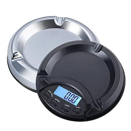 LLVV Báscula Digital De Cocina, Mini Cenicero Báscula Electrónica Portátil De Alta Precisión Báscula De