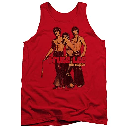 b9ffc6f646f63b Amazon.com  Bruce Lee The Dragon Martial Arts Nunchucks Adult Tank ...