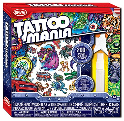 Savvi Tattoo Mania Temporary Tattoos (Boy Tattoo Kit)