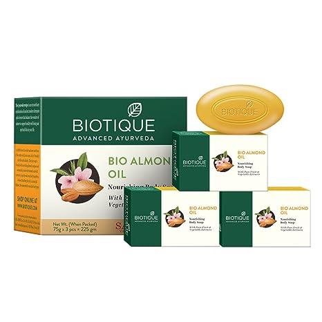 BIO Almendra Jabón de Paquete de 3 - Jabón nutritivo cuerpo con extractos puros Frutas y