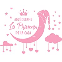Pegatina Pared Vinilo Frases Letras Español Sticker Adhesivo Rosa Decoración Habitación Dormitorio Infantil Niña