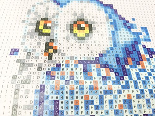 DIY Cartoon Colorful Handmade Needlework Embroidery Kits Diamond Painting Owl Pattern Cross Stitch For Gift,7.9x11.8 Inch