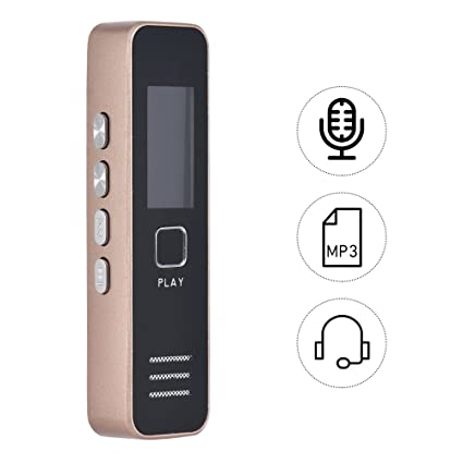 Grabadora De Voz Digital Con Reproductor 16 GB 1200 Horas De Grabacion Recorder