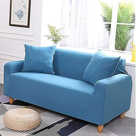 J&DSU Funda de sofá elástica,Poliester Color sólido sofá ...