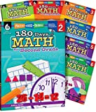 img - for 180 Days of Math for K-6, Set of 7 Assorted Math Workbooks, One Per Grade Level for Kindergarten through Sixth Grade (180 Days of Practice) book / textbook / text book