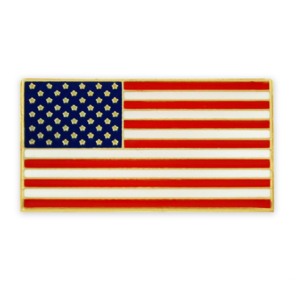 PinMart's Magnetic American Flag Patriotic Suit Jacket Lapel Pin 3/4'' by PinMart