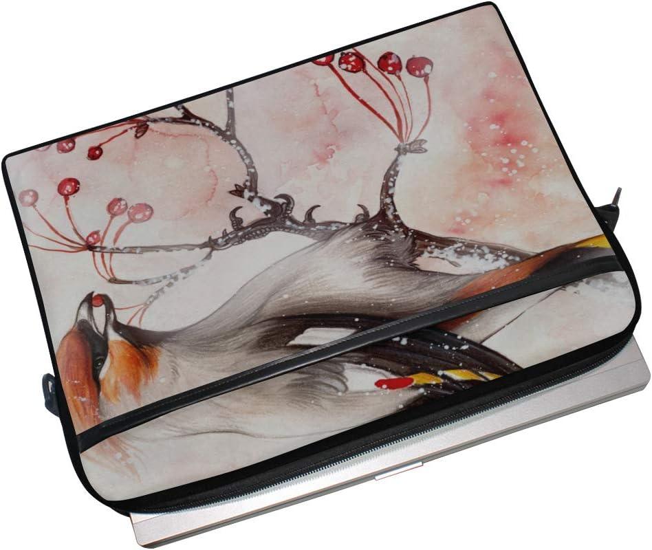 College Students Business People Office Workers Laptop Bag Bombycilla Garrulus 15-15.4 Inch Laptop Case Briefcase Messenger Shoulder Bag for Men Women