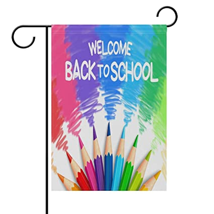 Amazon Com Shinesnow Rainbow Welcome Back To School Double Sided