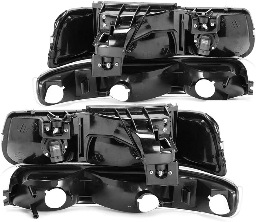 4-Piece Epic Lighting OEM Style Replacement Headlight Signal Marker Light Combo Set for 1999-2006 Chevrolet Silverado Suburban Tahoe Driver and Passenger Sides