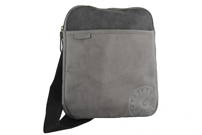 ecfcbcc680 Tracolla uomo CARRERA grigia borsa bandoliera borsello piatto: Amazon.it:  Abbigliamento