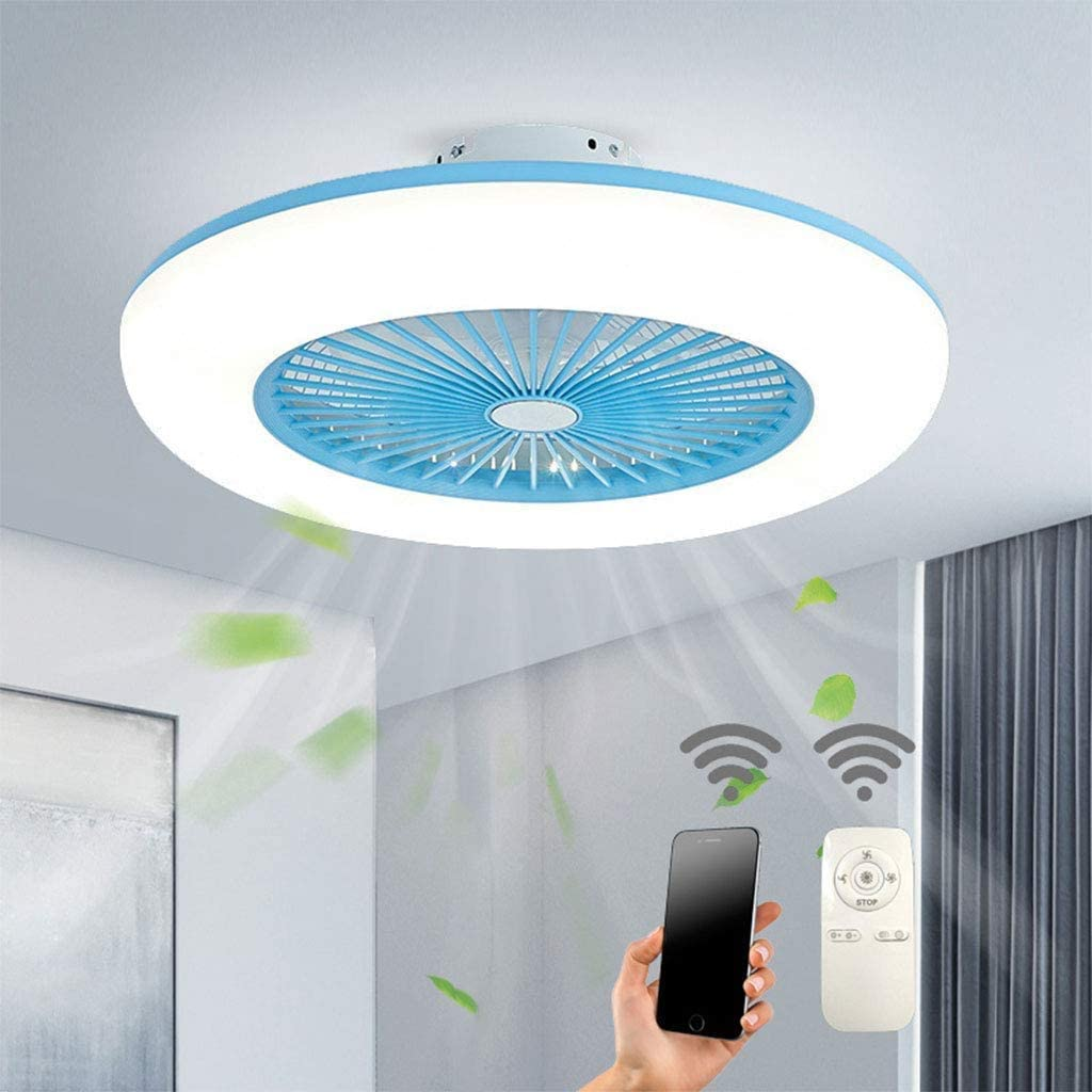 Ventilador de techo con iluminación, ventilador de LED plafón velocidad del viento regulable con mando a distancia 32 W plafón moderno