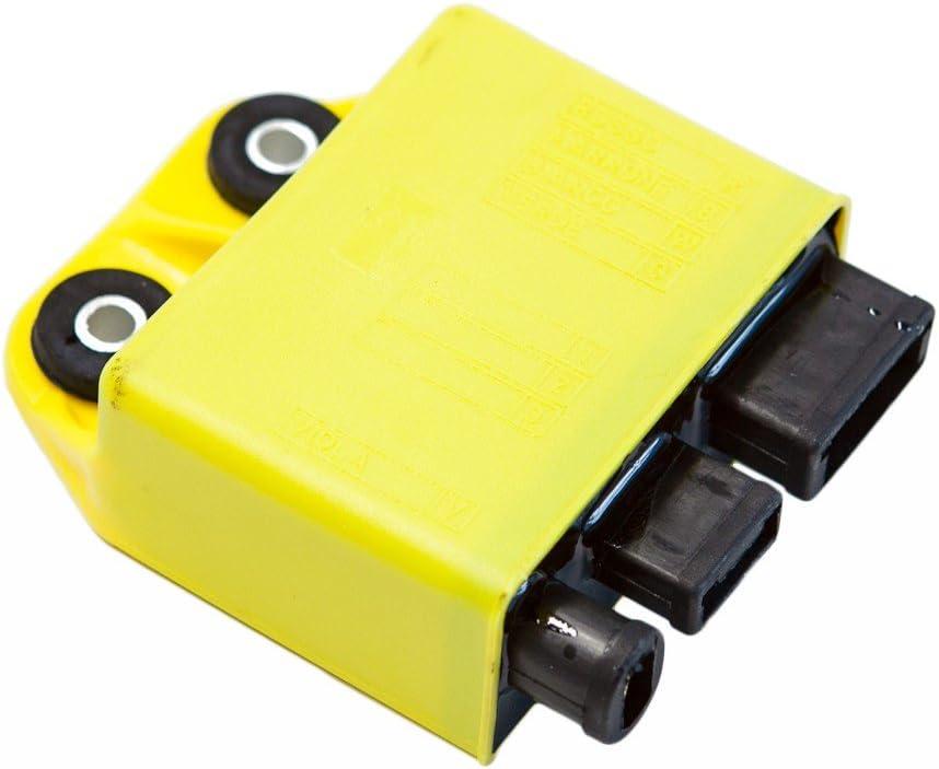 CDI//Caja de Encendido Amarillo para Piaggio Vespa 125/CCM de 4/del ET4/Liberty Hexagon LX4/Leader/ /sin Ranura para wegfahr