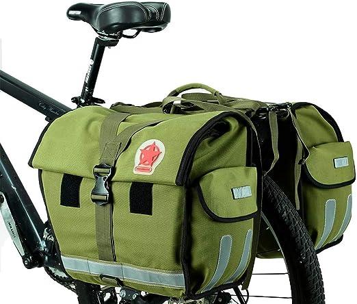 YSHUAI Impermeable Bolsa Alforja Trasera para Bicicleta, 50L ...