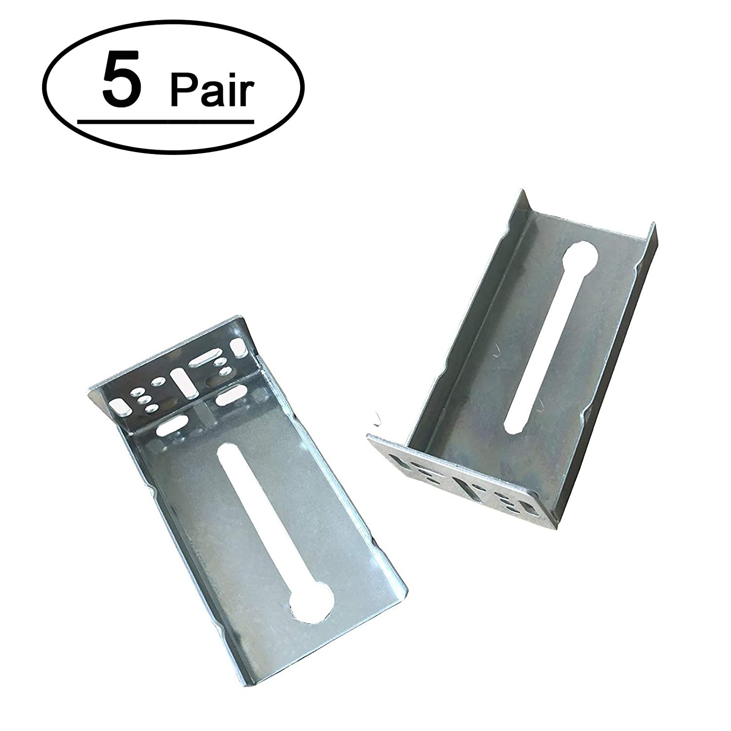 5 Pairs Rear Mounting Brackets for Drawer Slide - LONTAN B4502 Cabinet Drawer Bracket for Face Frame Cabinets for 1.77 inch(45mm) Width Drawer Gildes