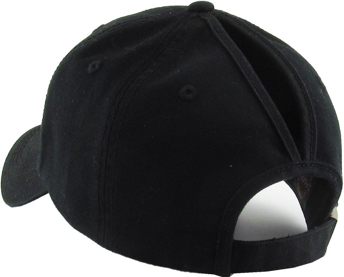 KBETHOS All Hat Ponytail Vintage Sports Glitter Messy High Bun Hat Ponycaps  Adjustable Cotton and Mesh Trucker Baseball Cap ... dd34296f10ee