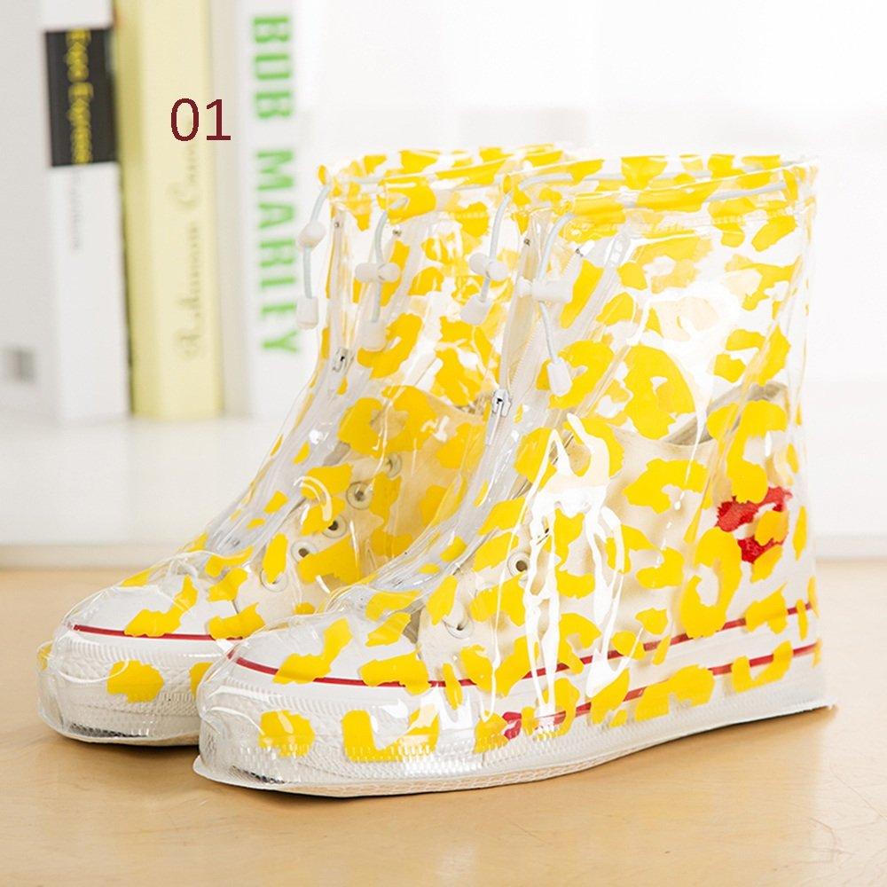 Botte Pluie Imperméable qz Housse de Chaussure antidérapante Rain Boots Travel Anti-Skid Bottom Men and Women
