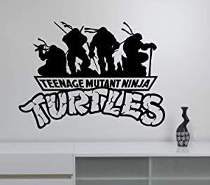 Ninja Turtles Logo Vinyl Decal Wall Vinyl Sticker TMNT Art Best Superhero Decorations for Home Teen Kids Boys Room Bedroom Video Game Decor Made in USA Fast Delivery