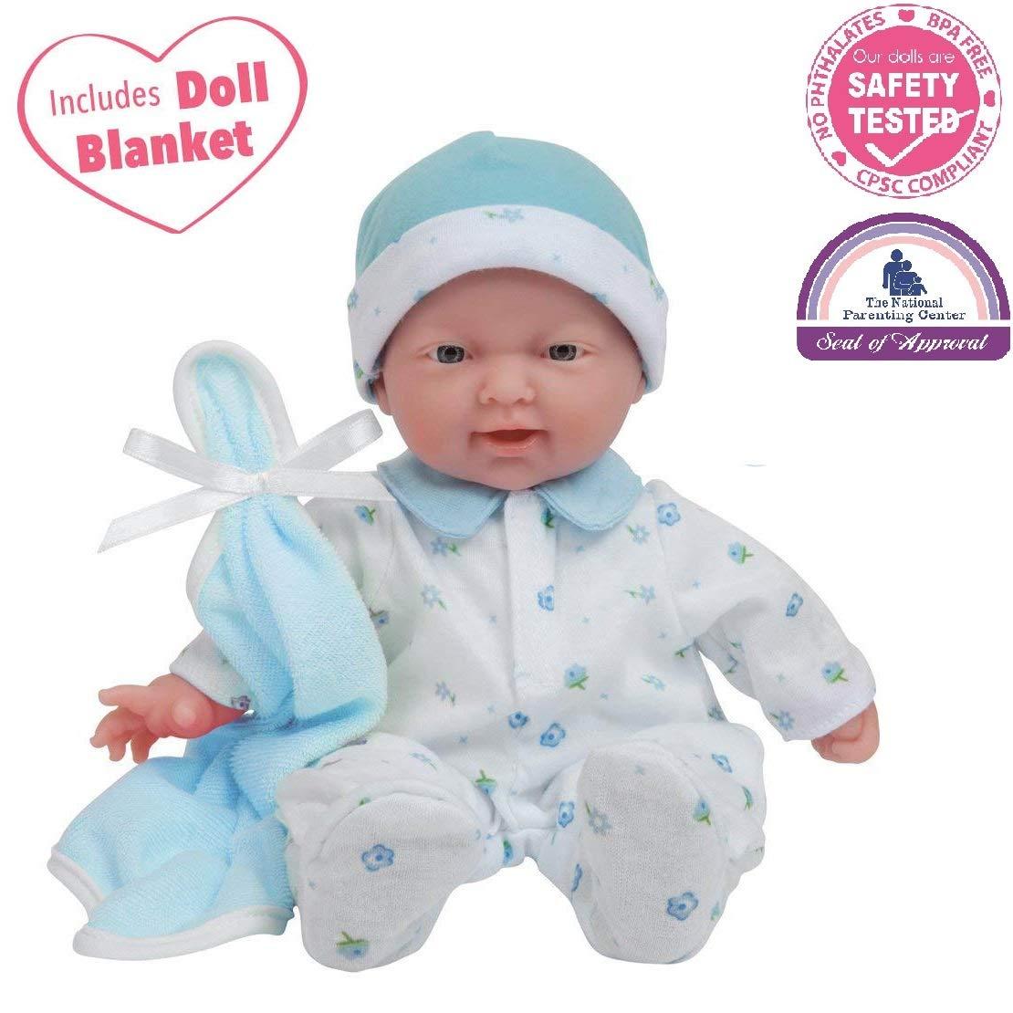 JC Toys, La Baby 11-inch Washable Soft Body Boy Play Doll for Kid
