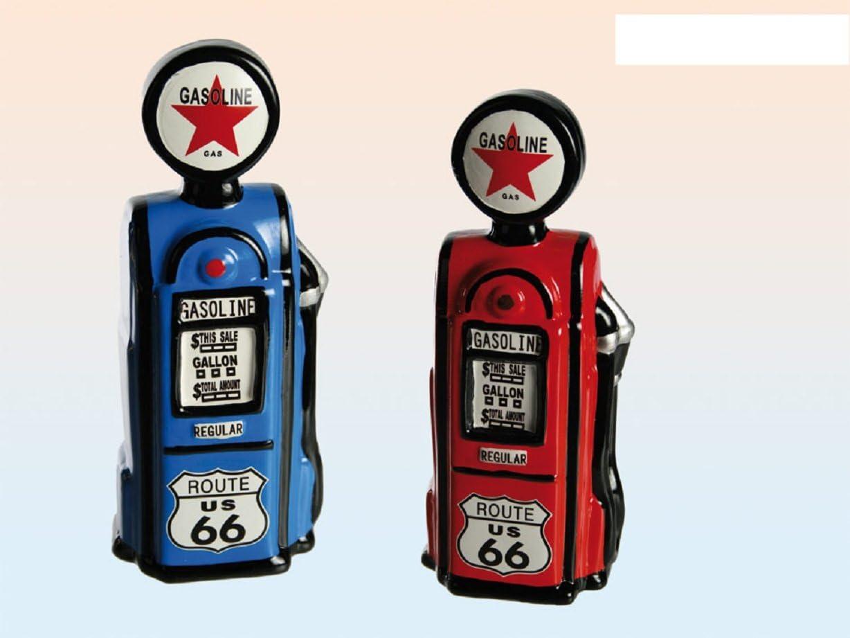 1 x Design tirelire pompe /à boisson gasoline route 66 disponible en bleu ou rouge mod/èle tirelire avec cadenas-pompe /à boisson