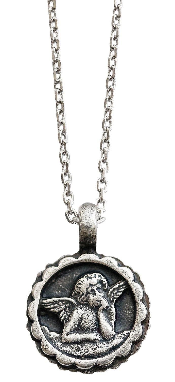 Mariana Guardian Angel Crystal Pendant Necklace, 16 Moon Drops Blue Colorado 5212 216-3
