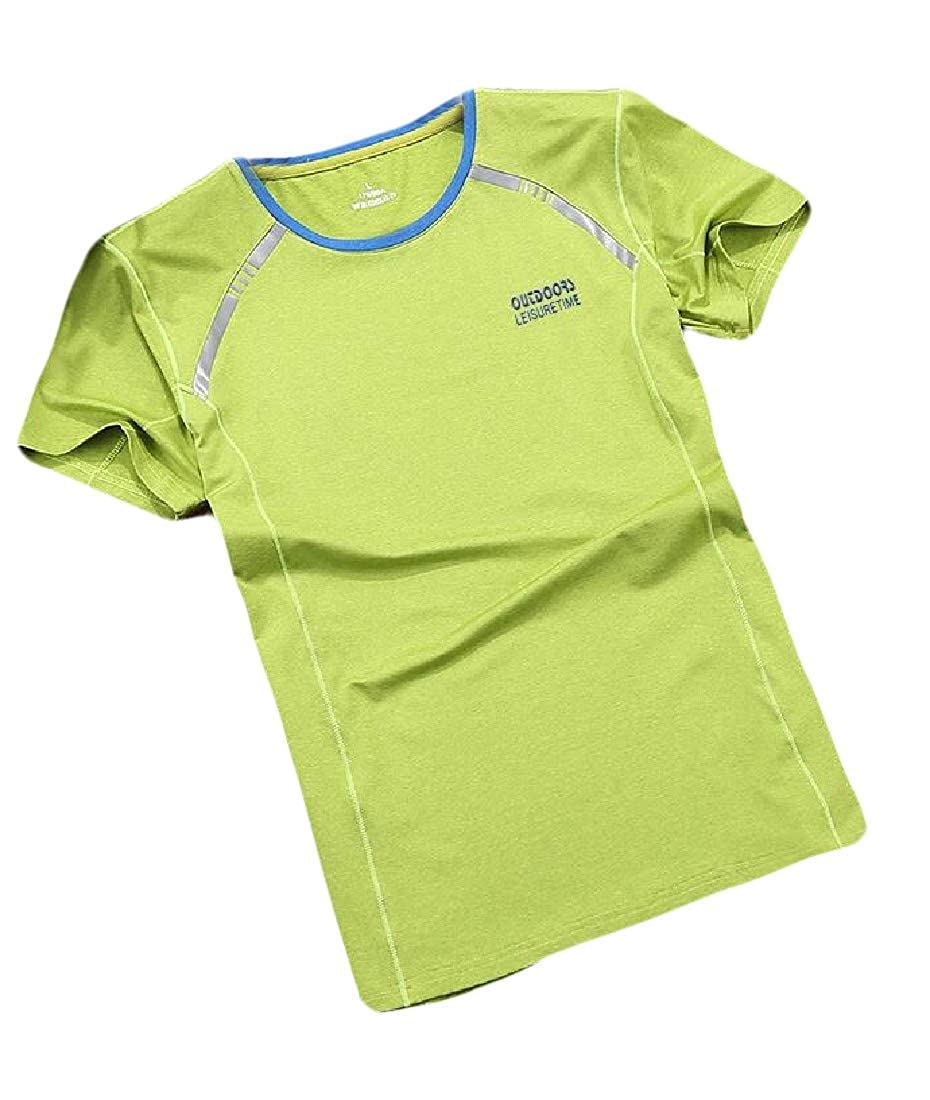 heymoney Men/'s Summer Loose Tops Active Athletic Performance T-Shirt