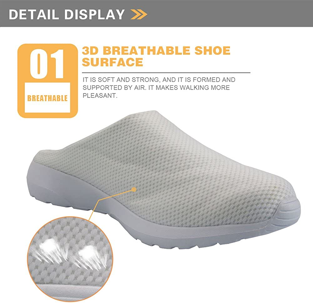 Nopersonality Ladies Womens Slip-on Breathable Mesh Mules Shoes Fashion Casual Sandals
