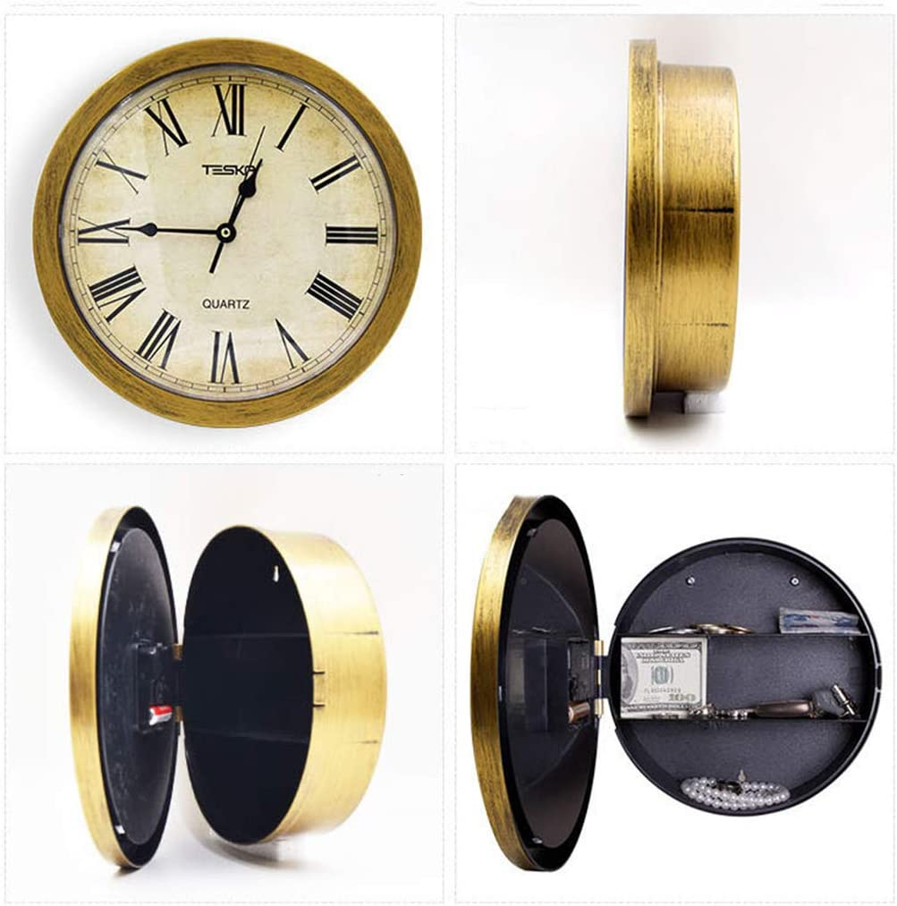 Clock Wall Clock Mute Retro Round Shape Battery Operation Hidden Fuse Box  Storage Box Piggy Bank: Amazon.ca: Home & KitchenAmazon.ca
