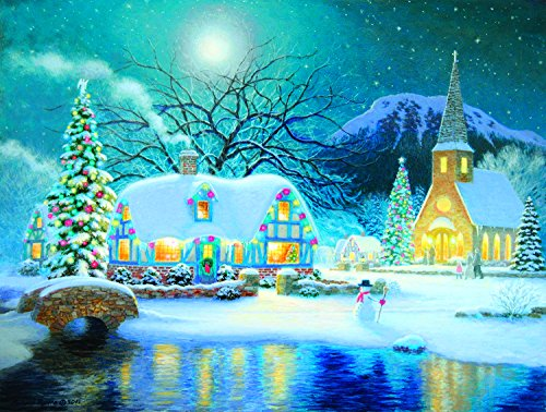 Country Snowfall 300 Piece Jigsaw Puzzle by SunsOut