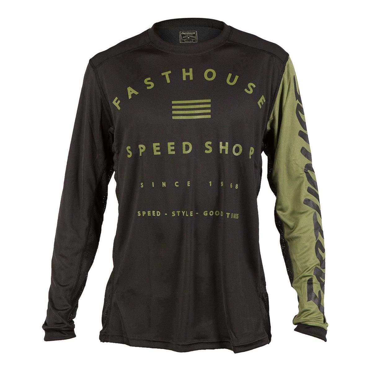 Fasthouse Bike-Jersey Fastline Speed Shop Schwarz Gr. M